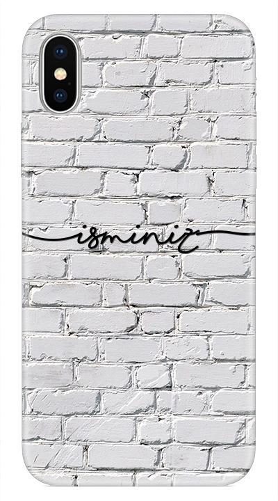 Beyaz duvar Desenli Cep Telefonu Kılıfı