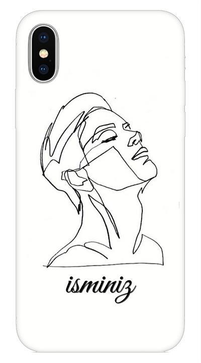 Beyaz 2 Desenli Cep Telefonu Kılıfı