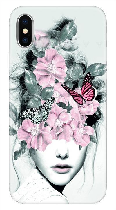 Çiçek D1 Desenli Cep Telefonu Kılıfı