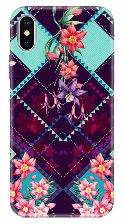 Çiçek D4 Desenli Cep Telefonu Kılıfı