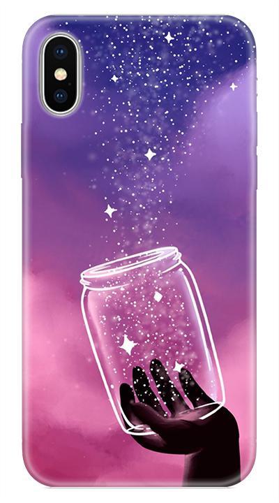 Galaxy Desenli Cep Telefonu Kılıfı